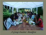 A Group Outdoor Breakfast B&B Bed and Breakfast Limoges Limousin Holiday Accommodation Hostel France La croix du Reh Chateauneuf La Foret