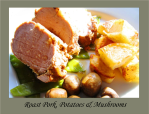 Roast Pork Dinner La Croix Du Reh B and B B&B France Limoges Limousin Chambres DHotes Hotel Accommodation France Holiday Stay Gites