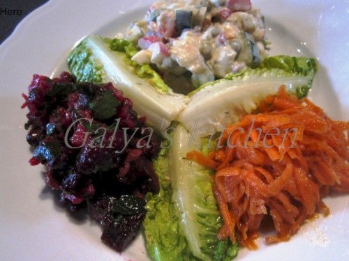 3 Russian salads