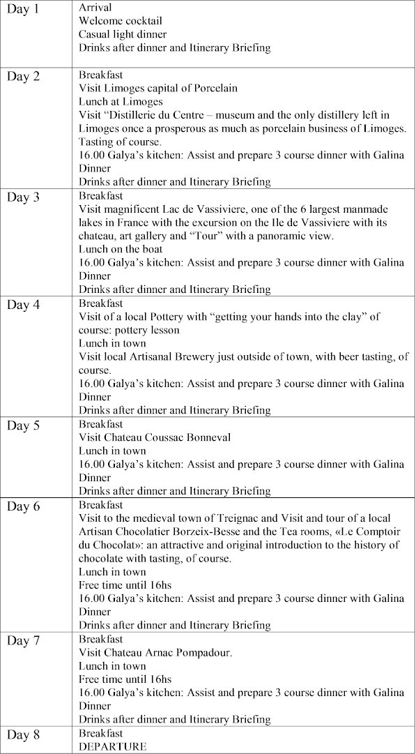 Itinerary 7