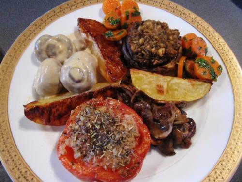 Mushroom Fete on the plate